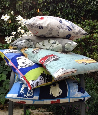 Cushions in funky fabrics