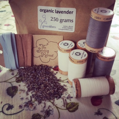 Organic threads and lavender from Greenfibres