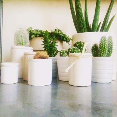 Victorian ceramic pots
