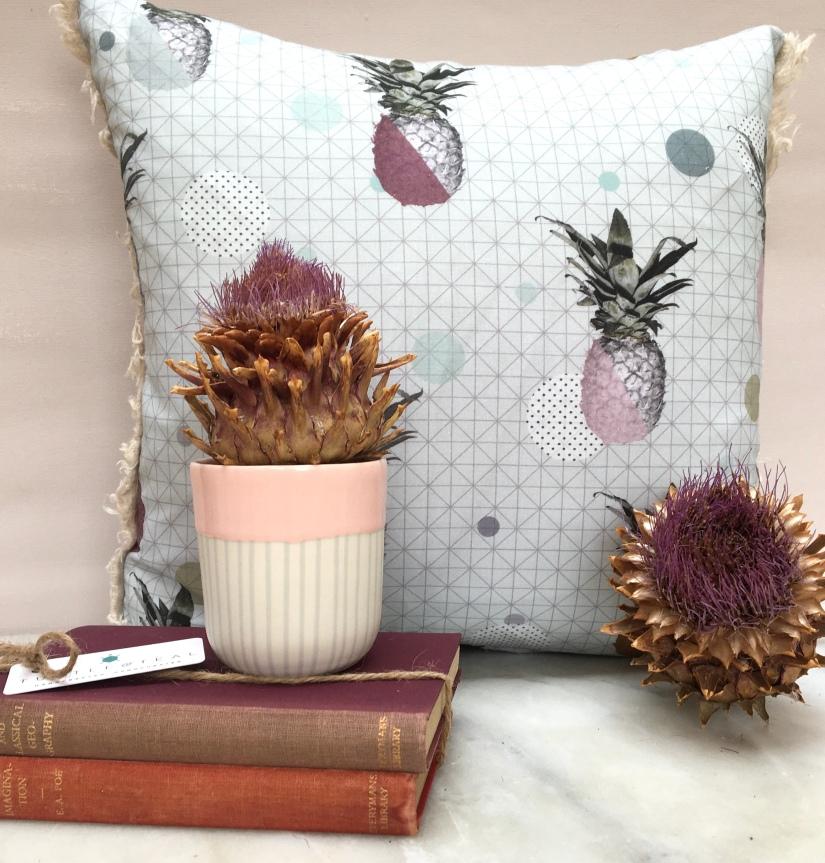 Pineapple fabric cushion 40x40cm £16