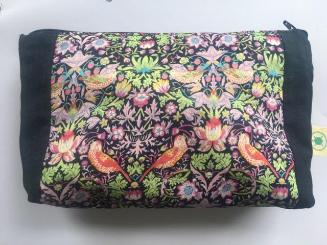 Bird/floral zipper pouch £12