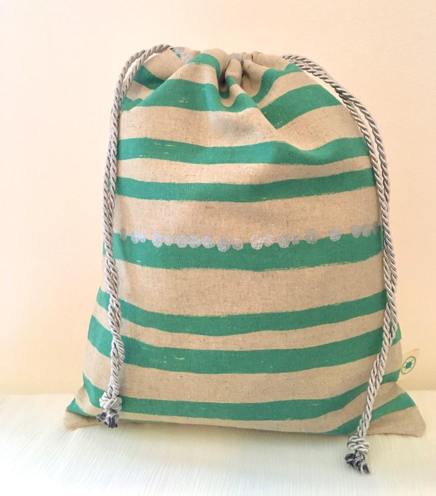 Striped wash bag £12 30x24cm
